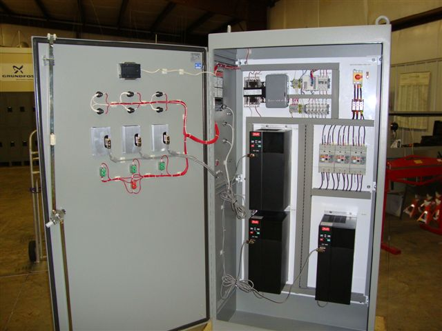 Triplex Vfd Panel Gt Bsi Mechanical Inc