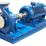 End Suction Pump Mounted to Motor