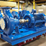 End Suction Pump On Base